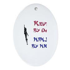 Kevin - Ninja by Night Oval Ornament