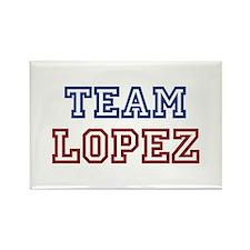TEAM LOPEZ Rectangle Magnet