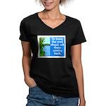 THE ROAD AHEAD Women's V-Neck Dark T-Shirt