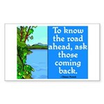 THE ROAD AHEAD Rectangle Sticker