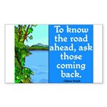 THE ROAD AHEAD Rectangle Sticker 10 pk)