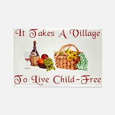 Child-Free Village Rectangle Magnet