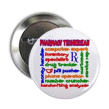 "Pharmacy Technician 2.25"" Button (100 pack)"