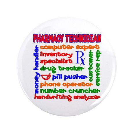 "Pharmacy Technician 3.5"" Button"