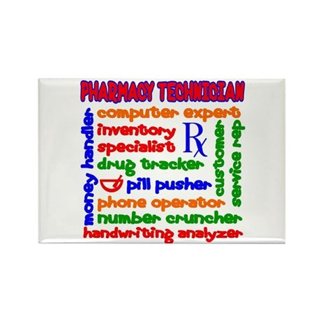 Pharmacy Technician Rectangle Magnet