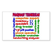 Pharmacy Technician Rectangle Decal