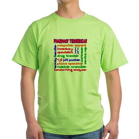 Pharmacy Technician Green T-Shirt
