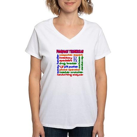 Pharmacy Technician Women's V-Neck T-Shirt