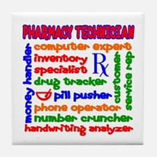 Pharmacy Technician Tile Coaster