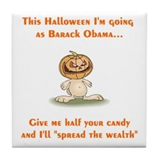 Halloween Obama Tile Coaster
