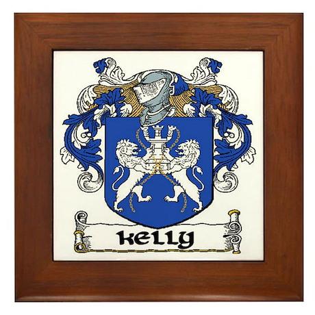 Kelly Coat of Arms Framed Tile
