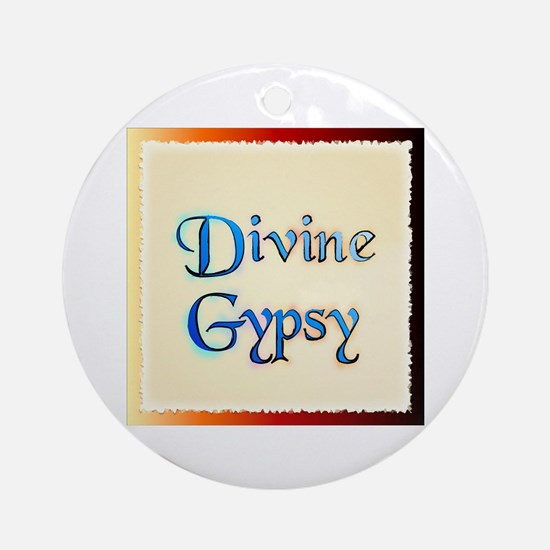 Divine Gypsy Ornament (Round)