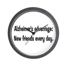 Alzheimer's advantage Wall Clock