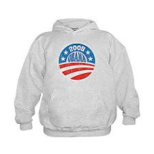 Vinatge Obama 2008 Logo Hoodie