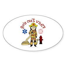 Custom Firefighter Oval Decal