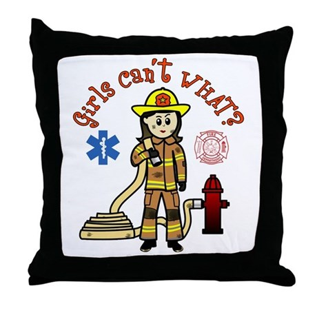 Custom Firefighter Throw Pillow