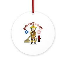 Custom Firefighter Ornament (Round)