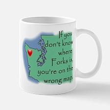 Forks Map Mug