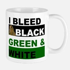 I Bleed Black, Green and Whit Mug