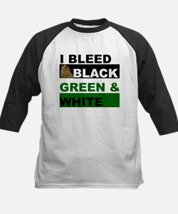 I Bleed Black, Green and Whit Tee