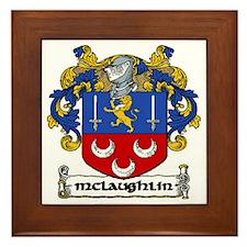 McLaughlin Coat of Arms Framed Tile