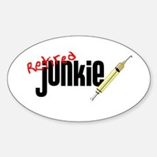 Retired Junkie Oval Decal