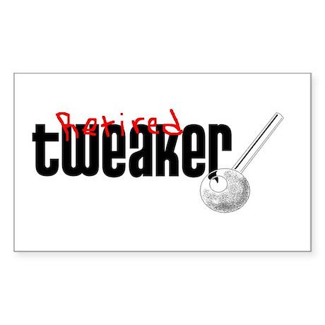 Retired Tweaker Rectangle Sticker