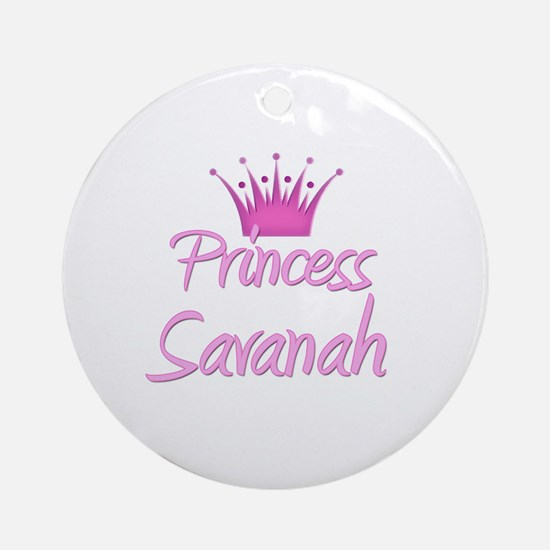 Princess Savanah Ornament (Round)