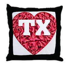TX Heart New Throw Pillow