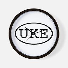UKE Oval Wall Clock