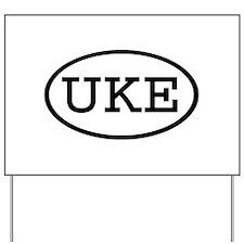 UKE Oval Yard Sign