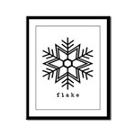 flake Framed Panel Print