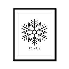 flake Framed Panel Print