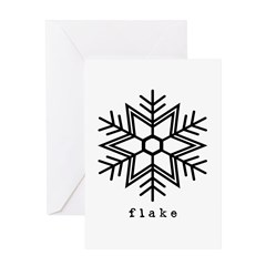 flake Greeting Card