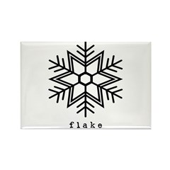 flake Rectangle Magnet (10 pack)
