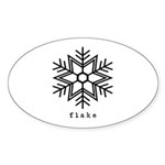 flake Sticker (Oval 10 pk)