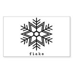 flake Sticker (Rectangle 10 pk)