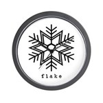 flake Wall Clock