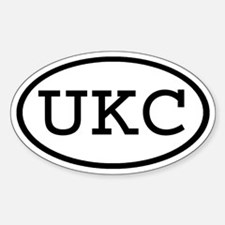 UKC Oval Oval Decal