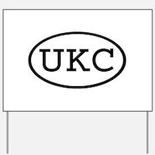 UKC Oval Yard Sign