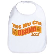 "Halloween Theme ""Yes We Can"" Obama Bib"