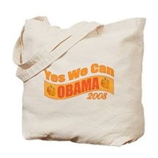 """Halloween Theme """"Yes We Can"""" Obama Tote Bag"""