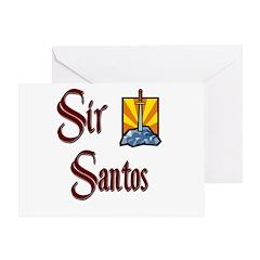 Sir Santos Greeting Card