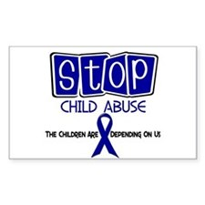 Stop Child Abuse 1 Rectangle Decal