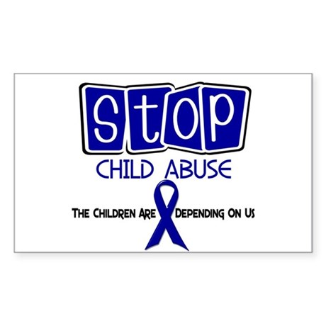 Stop Child Abuse 1 Rectangle Sticker
