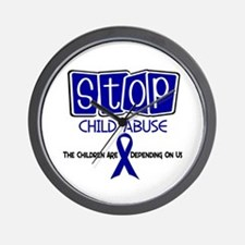 Stop Child Abuse 1 Wall Clock