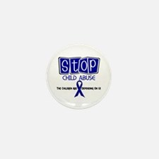 Stop Child Abuse 1 Mini Button (100 pack)