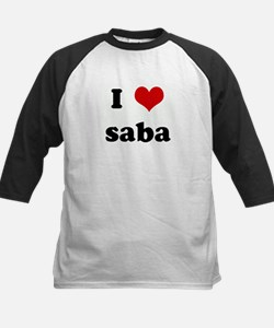 I Love saba Kids Baseball Jersey