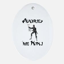 Audrey - The Ninja Oval Ornament