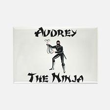 Audrey - The Ninja Rectangle Magnet